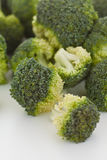Raw broccoli florets. Close up Royalty Free Stock Photos