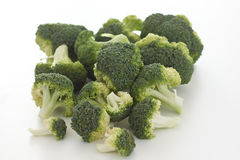 Raw broccoli florets. Close up Royalty Free Stock Photography