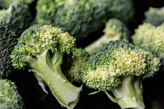Raw broccoli heads Royalty Free Stock Photography