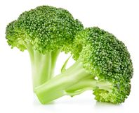 Raw broccoli isolated royalty free stock image