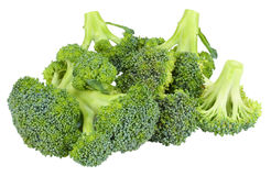 Raw broccoli isolated on white background. Broccoli isolated on white background Royalty Free Stock Photos