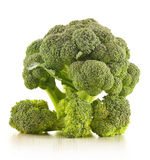 Raw broccoli  on white Stock Photos