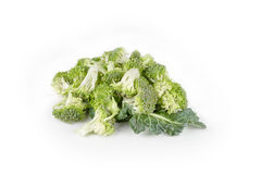 Raw broccoli on white background.  Royalty Free Stock Photography