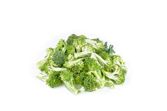 Raw broccoli on white background.  Stock Photography