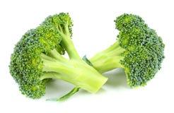 Raw broccoli  on white background. Broccoli  on white background Stock Photos