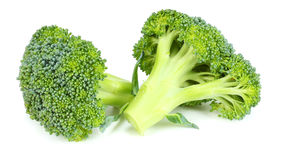 Raw broccoli  on white background Royalty Free Stock Photography