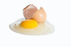 Raw broken egg Stock Photography