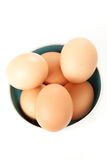 Raw brown egg isolated. Over white background Royalty Free Stock Photos