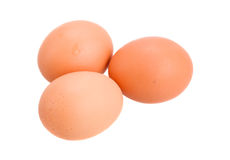 Raw brown eggs Royalty Free Stock Photography
