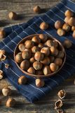 Raw Brown Organic Shelled Hazelnut Filberts Stock Photo