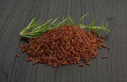 Raw brown rice Royalty Free Stock Images