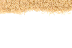 Raw Brown Rice frame Stock Photography