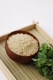 Raw brown rice Royalty Free Stock Photos