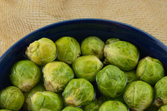 Raw brussel sprouts Stock Photo