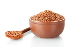 Raw buckwheat Stock Photo