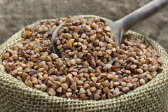 Raw buckwheat Stock Image
