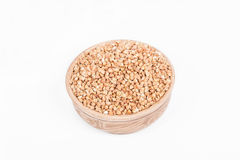 Raw buckwheat in a dish Royalty Free Stock Images
