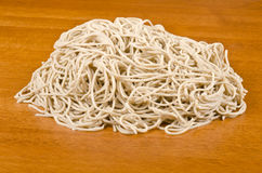 Raw Buckwheat Noodles #4. Bunch of soba noodles Royalty Free Stock Images
