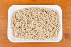 Raw Buckwheat Noodles #5. Bunch of soba noodles on a tray Stock Photography