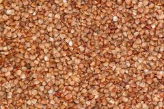 Raw buckwheat porridge Stock Photos