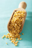 Raw bulgur in a scoop Royalty Free Stock Photos