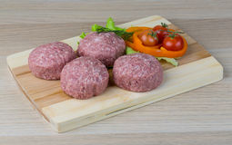 Raw burger cutlet Stock Photo
