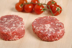 Raw burger Stock Photos