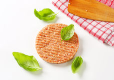 Raw burger Stock Image