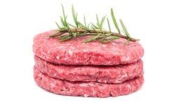Raw Burger Stock Photography