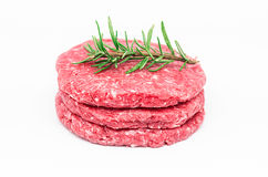 Raw Burger Royalty Free Stock Photo