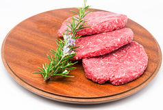 Raw Burger Stock Photos