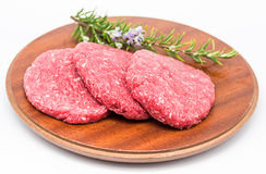 Raw Burger Royalty Free Stock Photography