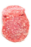 Raw burgers Stock Photography