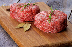 Raw Burgers Royalty Free Stock Photos
