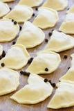 Raw cabbage dumplings - traditional Ukrainian food Royalty Free Stock Images