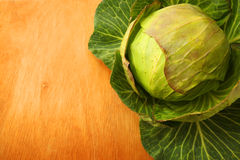 A Raw Cabbage Royalty Free Stock Image