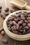 Raw cacao cocoa beans Stock Photos