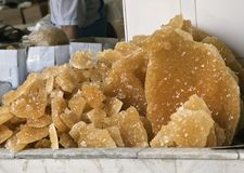 Raw cane sugar Stock Image