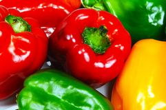 Raw capsicums. Royalty Free Stock Images