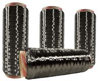 Raw Carbon Fiber Thread Royalty Free Stock Images