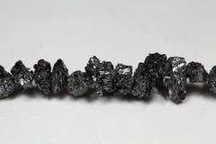 Raw Carbonados black diamonds Stock Photography