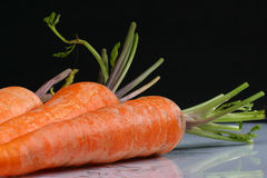 Raw carrot detail Stock Image