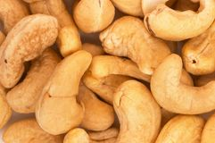 Raw cashew nuts closeup. A Pile of raw cashew nuts, screen filled. A healthy food source stock images