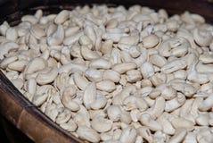 Raw cashew nuts closeup Royalty Free Stock Image