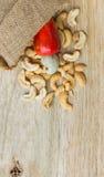 Raw cashew nuts Fresh Cashew Nut pour from sack Stock Photos