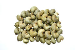 Raw cashew nuts stock images