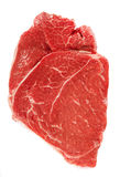 Raw casserole beef steak isolated over white Stock Image