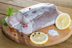 Raw catfish fillet Royalty Free Stock Photo