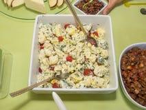 Raw Cauliflower Salad Royalty Free Stock Images
