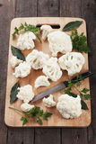 Raw cauliflower Stock Photo